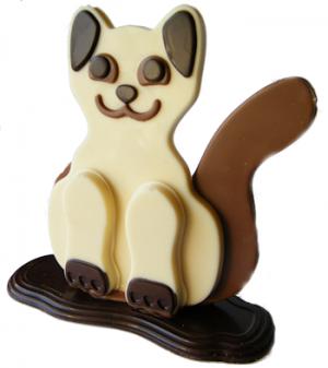 witte chocolade kat