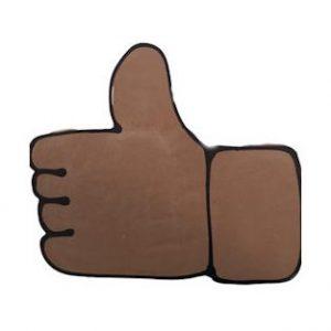 Chocolade duim like