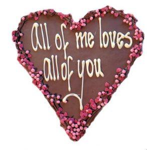 hart van chocolade