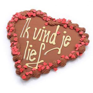 chocolade hart met tekst melk choco