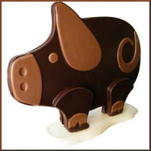 melk chocolade varken aanzicht