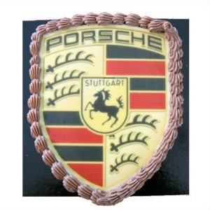 Porsche logo in speciale chocolade