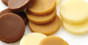 borstplaat vanille, mokka en chocolade