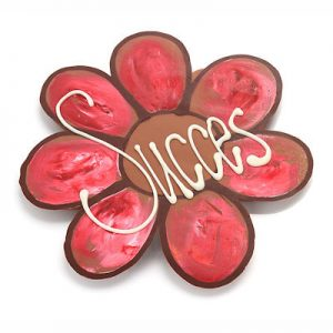 Chocolade bloem kleurig