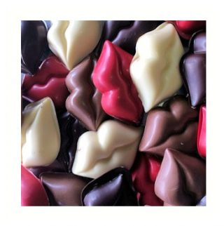 chocolade lippen zoenen mondjes