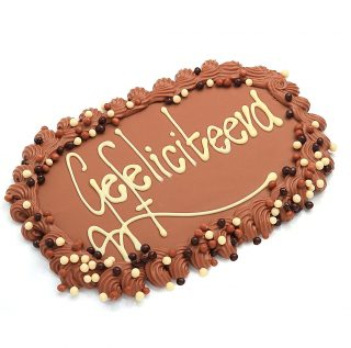chocolade telegram met tekst