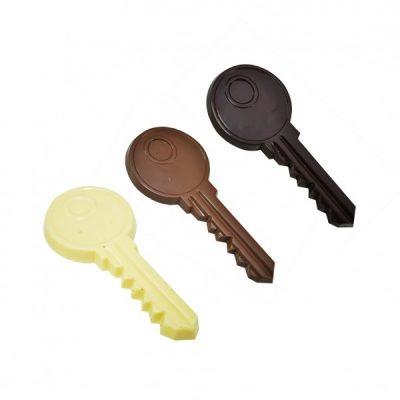 chocolade sleutel-melk-puur-wit