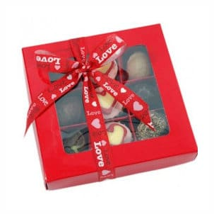 Valentijnsdag Bonbons doos Rood