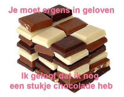 chocolade geloof