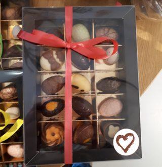chocolade-eitjes Pasen